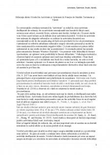 Diferența dintre nivelul de activitate și optimism în funcție de studiile terminate și vârstă - Pagina 3