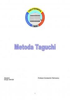 Metoda Taguchi - Pagina 1