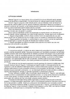 Metoda Taguchi - Pagina 2