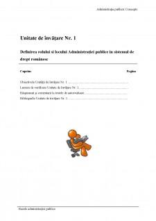 Bazele administrației publice - Pagina 1