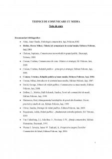 Tehnici de comunicare cu media - Pagina 1