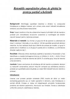 Retenția suprafețelor plane de ghidaj în proteză parțial scheletată - Pagina 1