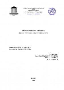 Predarea fracțiilor ordinare și fracțiilor zecimale abordari metodologice comparative - Pagina 1