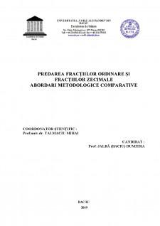 Predarea fracțiilor ordinare și fracțiilor zecimale abordari metodologice comparative - Pagina 2