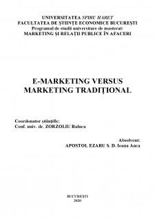 E-marketing versus marketing tradițional - Pagina 2