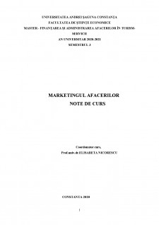 Marketingul afacerilor - Pagina 1