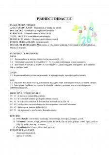 Proiect_didactic - Numerele naturale de la 0 la 10 - Pagina 1