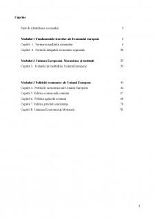 Economie Europeană - Suport de Curs - Pagina 2