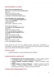 Economie Europeană - Suport de Curs - Pagina 3