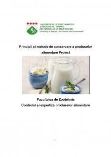 Principii și metode de conservare a produselor alimentare - Pagina 1