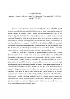 Prezentare de carte - Alexandru Emanoil Lahovary - Amintiri diplomatice - Pagina 1