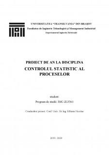 Controlul statistic al proceselor - Pagina 1