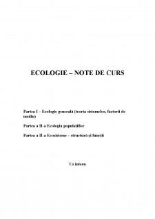 Ecologie - Pagina 1