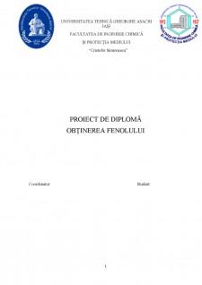 Obținerea fenolului - Pagina 1