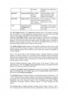 Literary Periods of British and American Literature - Pagina 2