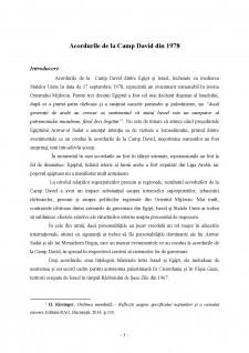 Acordurile de la Camp David din 1978 - Pagina 1