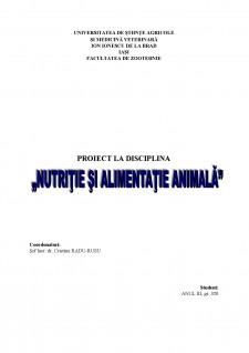 Nutriția și Alimentația Animală - Pagina 1