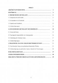 Tipologia comparativă a categoriei gramaticale a genului în germană și română - Caracteristici de traducere - Pagina 2