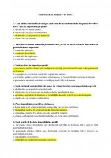 Grile și aplicații fiscalitate - Pagina 1