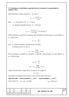 Caluclul motorului sincron cu reductor conic - Pagina 5