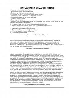 Desfășurarea urmăririi penale - Pagina 1
