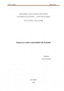 Integrarea socială a minorităților din România - Pagina 1