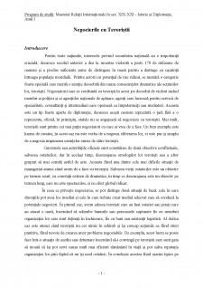 Negocierile cu teroriștii - Pagina 1