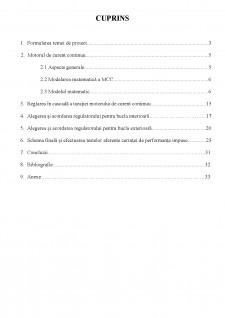 Proiectarea unui sistem de reglare automată a turației unui motor de curent continuu (MCC) utilizând regulatoare convenționale (PID) - Pagina 2