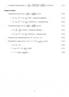 Proiectarea unui sistem de reglare automată a turației unui motor de curent continuu (MCC) utilizând regulatoare convenționale (PID) - Pagina 4