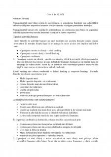 Gestiune bancară - Pagina 1