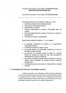Activitatea de evaluare a întrprinderii - Pagina 1