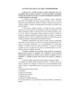 Activitatea de evaluare a întrprinderii - Pagina 2