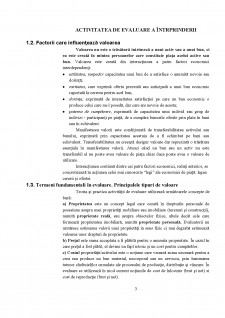 Activitatea de evaluare a întrprinderii - Pagina 3