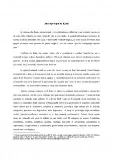 Antropologia lui Kant - Pagina 1