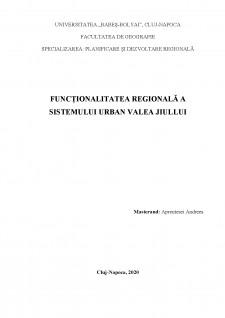 Funcționalitatea regională a sistemului urban Valea Jiullui - Pagina 1