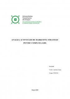 Analiza activității de marketing strategic pentru compania LIDL - Pagina 1