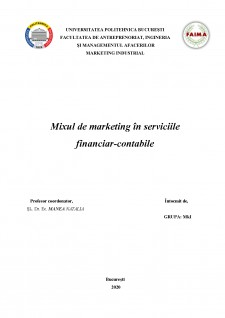 Mixul de marketing în serviciile financiar-contabile - Pagina 2