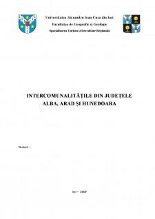 Intercomunalitățile din județele Alba, Arad și Hunedoara - Pagina 1