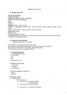 Plan de lecție - Lucrările solului - arătura, graparea, tasarea, nivelarea - Pagina 1