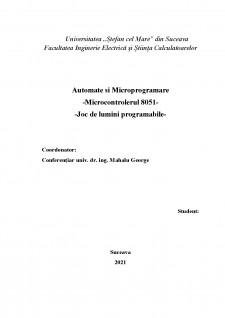Microcontrolerul 8051 - Joc de lumini programabile - Pagina 1