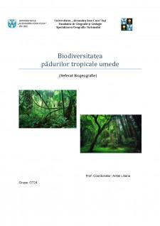 Biodiversitatea pădurilor tropicale umede - Pagina 1