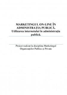 Marketingul On-line în administrația publică - Utilizarea internetului în administrația publică - Pagina 1