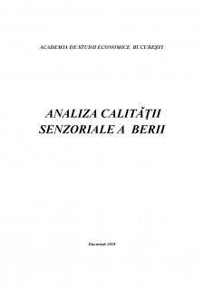 Analiza calității senzoriale a berii - Pagina 1