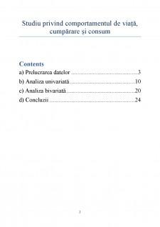 Studiu privind comportamentul de viață, cumpărare și consum - Pagina 2