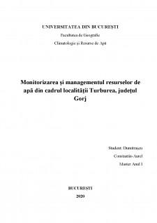 Monitorizarea și managementul resurselor de apă din cadrul localității Turburea județul Gorj - Pagina 1