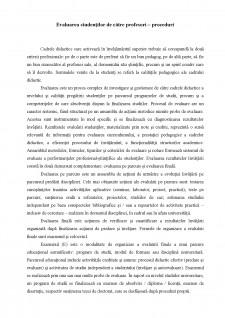 Evaluarea studenților de către profesori-proceduri - Pagina 1