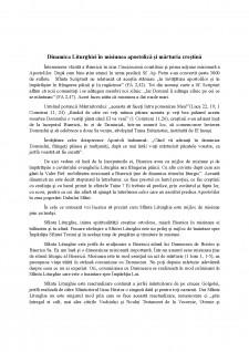 Dinamica Liturghiei în misiunea apostolică și mărturia creștină - Pagina 1