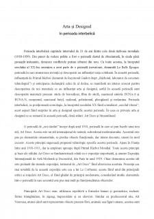 Arta și designul în perioada interbelică - Pagina 1
