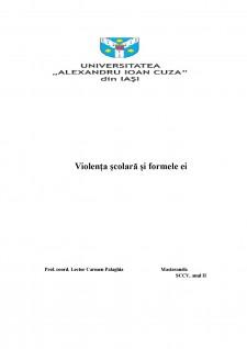 Violența școlară și formele ei - Pagina 1