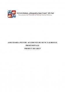 Asigurarea pentru accidente de muncă și bolile profesionale - Pagina 1
